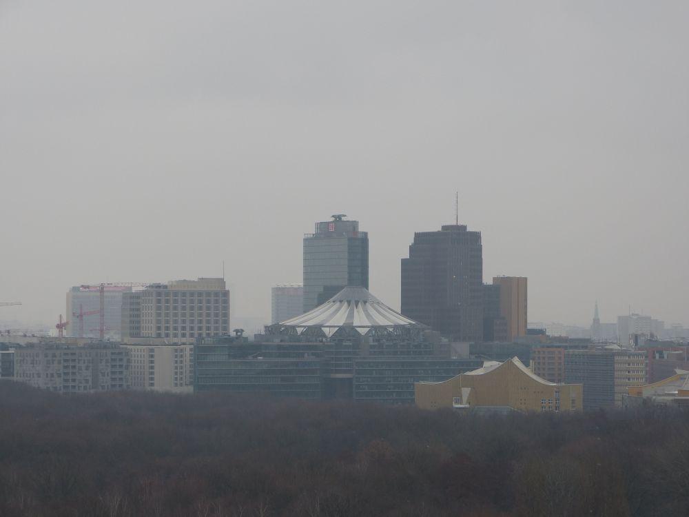 Blick auf das Sony Center