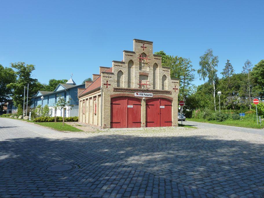 Das Backsteinfeuerwehrhaus von Arkona