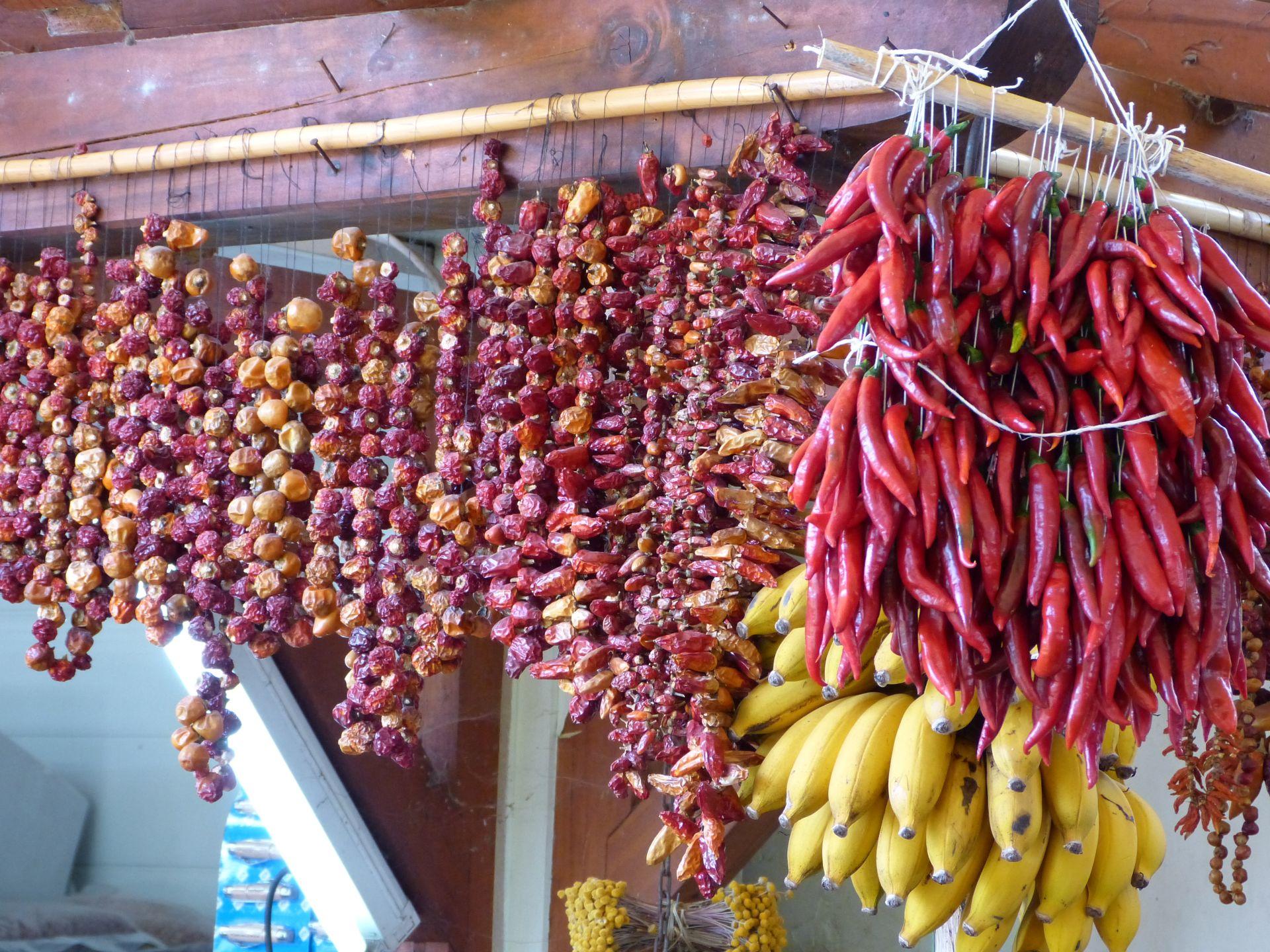 Bananen und scharfe Sachen im 2. Stock