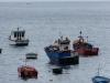 ... und auf die wenigen Fischerboote