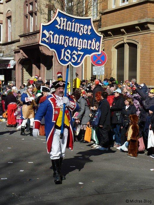 Die Mainzer Ranzengarde...