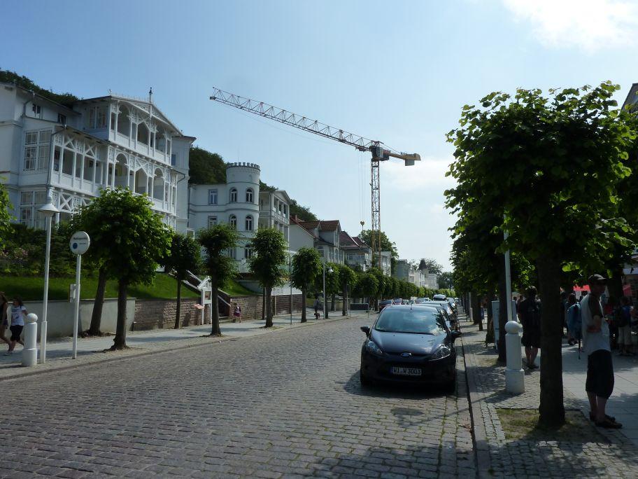 Die Wilhelmstraße mit edler Bäderarchitektur