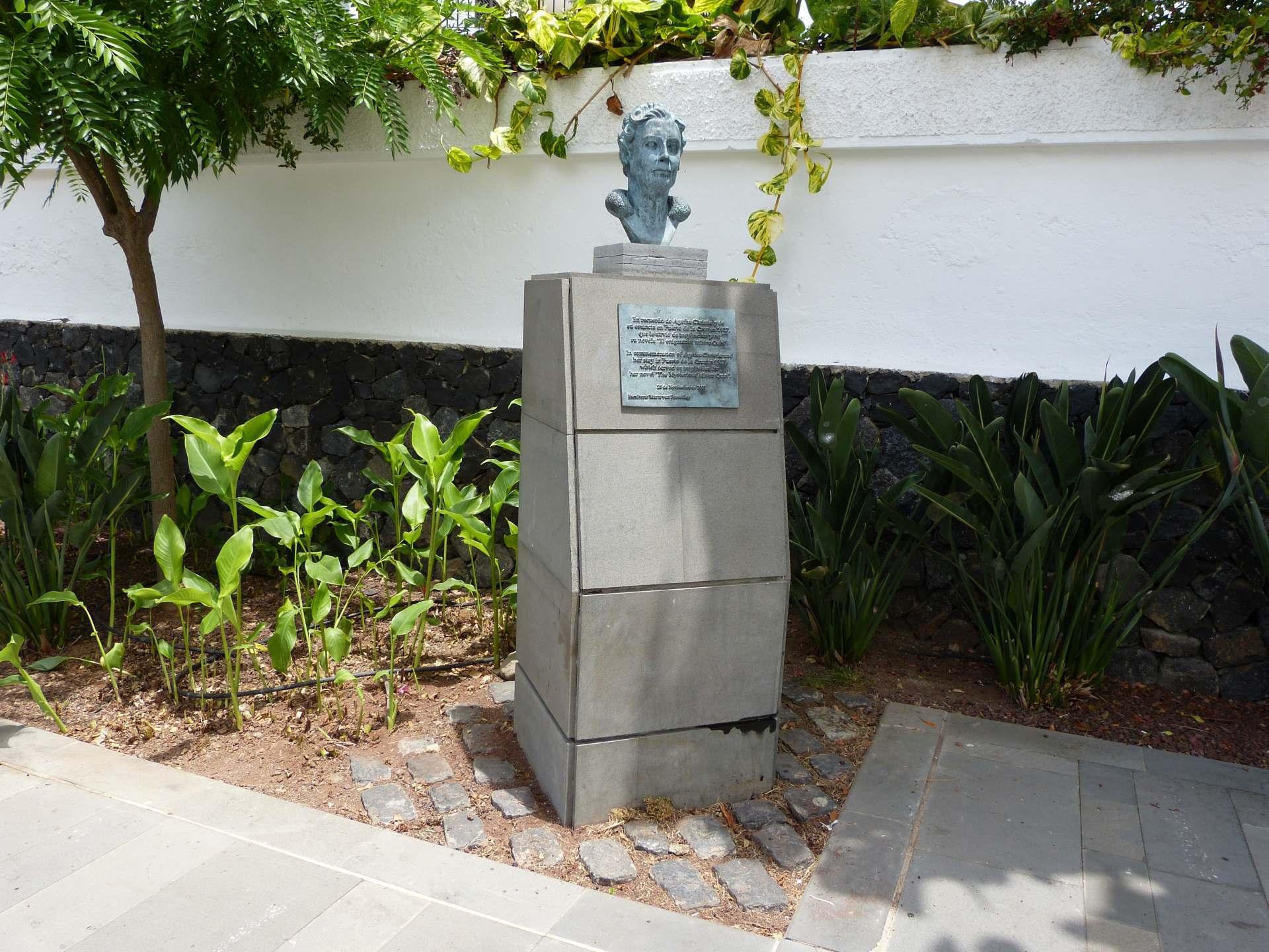Mirador la Paz - Agatha Christie Büste