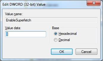 Crucial M4 SSD Konfiguration Windows 7 prefetch