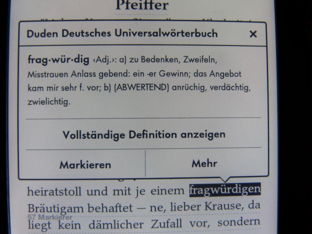 Paperwhite Wörterbuch