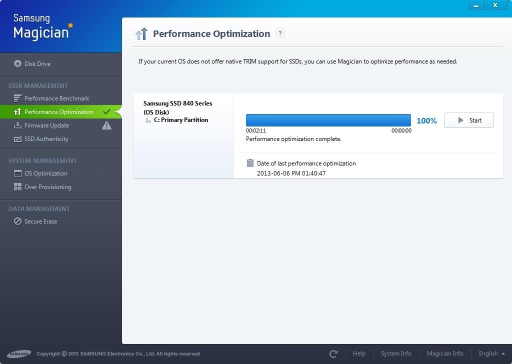 Samsung SSD 840 250 GB