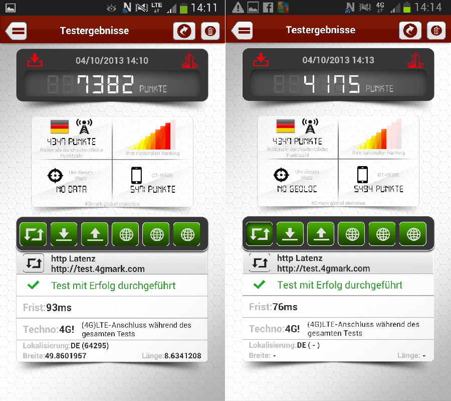 Galaxy S3 Benchmark lte