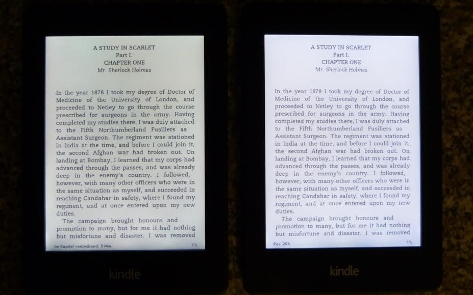 erfahrungsbericht und testbericht amazon kindle paperwhite 2 und vergleich mit 1 generation. Black Bedroom Furniture Sets. Home Design Ideas
