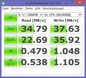 Benchmark Medion 500 GB Festplatte P2214T