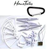 Hometalks® Syma X5 X5C X5C-1 Quadcopter Komplette Artikel Set 4 * Motoren Propeller Landing Skid Protectors Motor Base + 1 Hometalks Karabiner