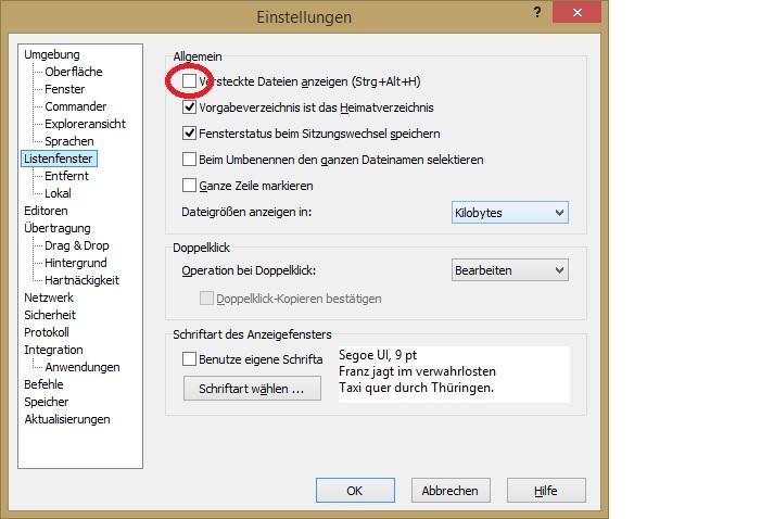 winscp wordpress htaccess versteckt