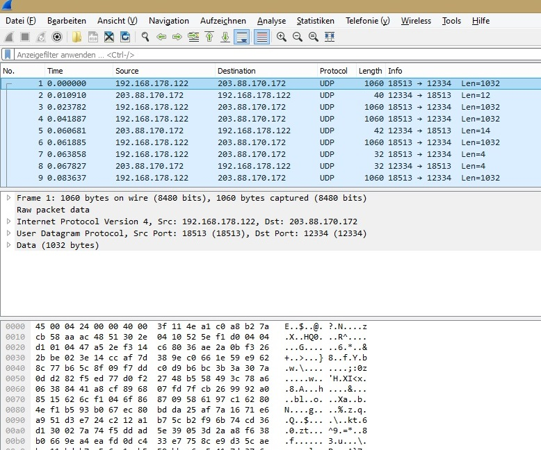wireshark fritzbox capture