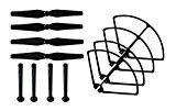 HB HOMEBOAT® Ersatzteil Syma X8C X8W Rotorblätter Propeller Schutzbügel Propellerschutz Landing Gear Landing Skid (Schwarz)