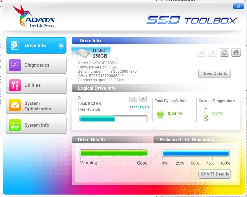 ADATA SP920 256GB