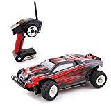 Metakoo RC Auto Off Road Schnelle Geschwindigkeit 30 km / h 1:18 Skala 100M Fernbedienung 20 Minuten Spielzeiten 4WD schnelles Fahrzeug 2,4 GHz Elektro Buggy Car- Rot