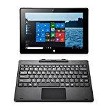 iRULU WalknBook 3 Notebook/Tablet PC 2-In-1(W3), Microsoft Windows 10 OS, IPS-Display, 32GB Hybrid Laptop, Quad Core, 10,1 Zoll mit HD-Auflösung 1280*800, abnehmbare Tastatur, Metallgehäuse (grau)