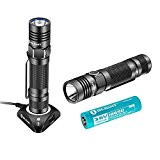 Olight® S30R II Taschenlampe wiederaufladbar - Cree XM-L2 U3 LED max. 1020 Lumen mit Lithium Ionen 18650 Akku 3600mAh, USB Magnet Dockingstation und Ersatz-O-Ringe (x2)