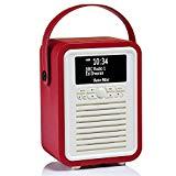 VQ (Vormals View Quest) Retro Mini DAB+ Radio mit Bluetooth-Lautsprecher - Rot